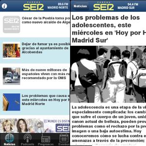 Aplicaciones Android Ser Madrid Norte y Sur