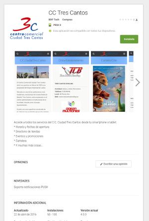 Google Play CC Tres Cantos